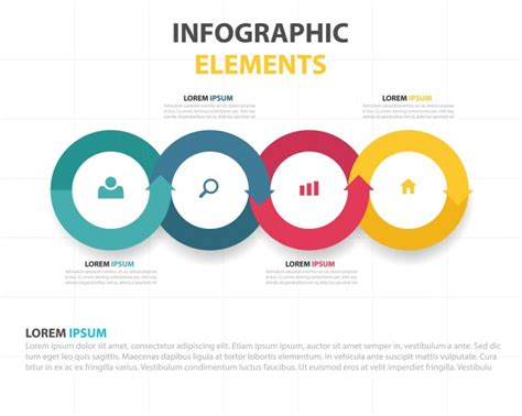 graphics template business infographic template vector free