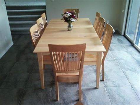 solid maple quot prairie quot dining table transitional dining