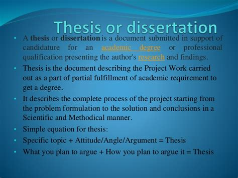 thesis and dissertation thesis and dissertation