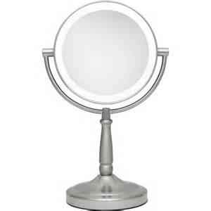 Vanity Mirror With Lights 5x 1x Cordless Dual Sided Led Light Vanity Mirror By Zadro