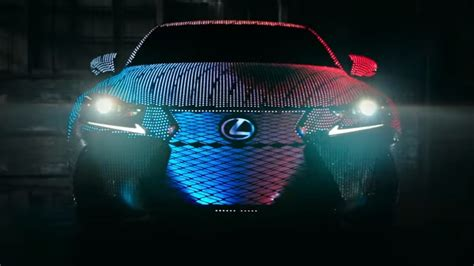 lexus lit the lexus lit is revealed car covered with 41 999 leds