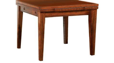 Melbourne tobacco tan brown square dining table traditional