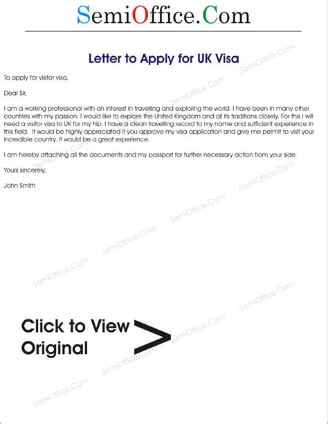 Bank Letter For Uk Visa Application Sle Visa Application Letter For Uk Semioffice