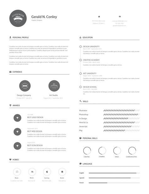 Resume Templates Illustrator Template Gratuit Cv Illustrator Pour Votre Entretien D Embauche
