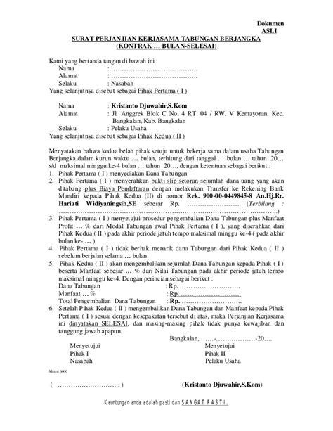 contoh surat perjanjian kerja kontrak upload and