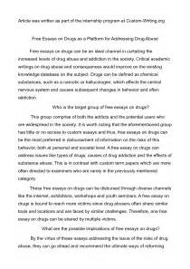 Essay On Writing by Academic Guide To Writing Basics Of An Essay About Drugs