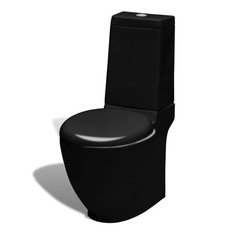 Toilet And Bidet Set by Stand Toilet Bidet Set Black Ceramic Vidaxl Co Uk