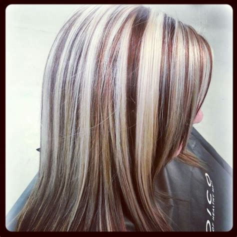 how to add colour chunks to hairstyles best 25 blonde chunks ideas on pinterest red blonde