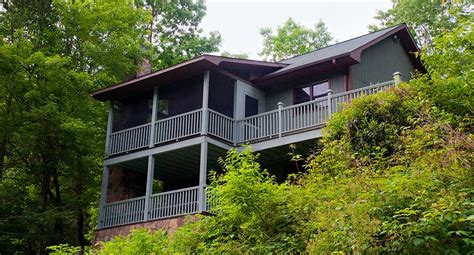 Luxury Secluded Cottages by Brevard Nc Waterfront Cabins Trout House Falls