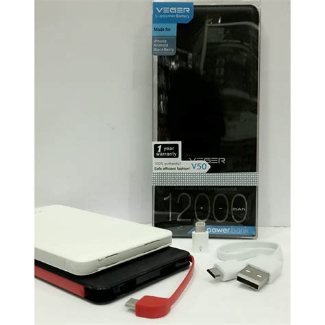 Vinzo Powerbank Slim 12000 Mah powerbank veger v50 12000mah slim original garansi resmi