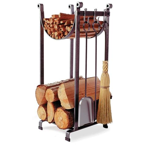 wood rack for fireplace enclume 174 sling fireplace log rack with tools 226490 kitchen dining at sportsman s guide