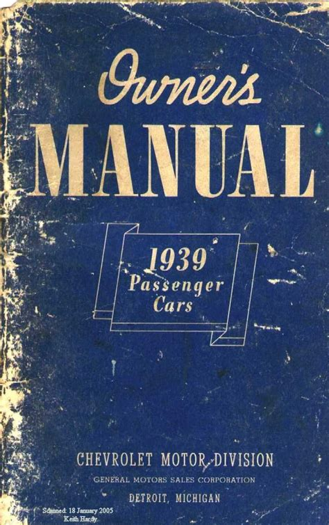 old cars and repair manuals free 2009 chevrolet cobalt parking system 1939 chevy owner s manual