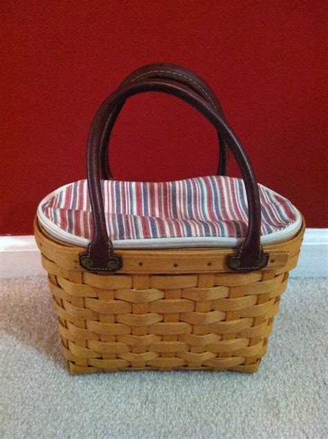 longaberger basket values longaberger sm boardwalk basket combo retired ebay