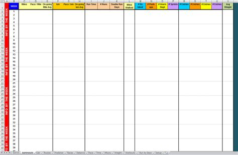 running log template template running log template