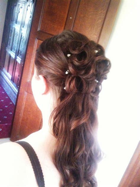 rose hairstyle half up half down half up half down wedding hairstyles braided rose