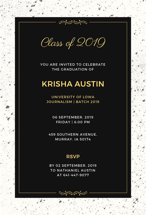 Free Graduation Announcement Invitation Template In Illustrator Template Net Graduation Announcement Template