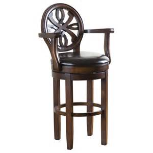 Wooden Swivel Bar Stools With Arms Ahb Kennedy 30 In Swivel Bar Stool With Arms Chestnut