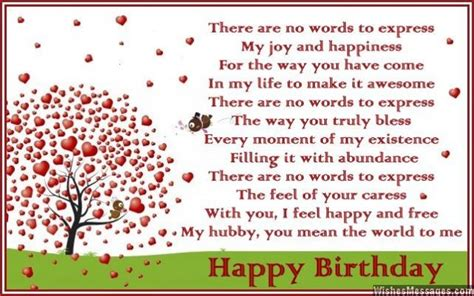 Greeting Card Messages For Husband Birthday Birthday Poems For Husband Wishesmessages Com