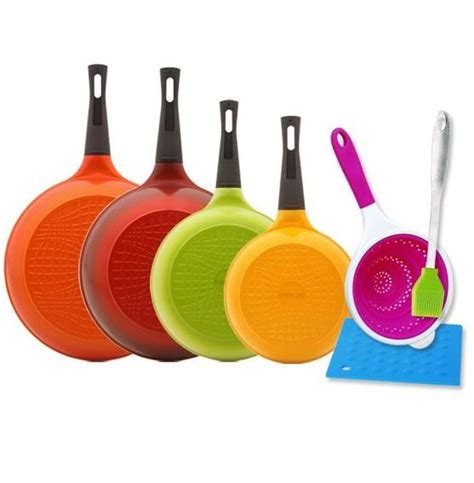 Neoflam Midas Multi midas pan set with detachable handle 9pcs with lids fry
