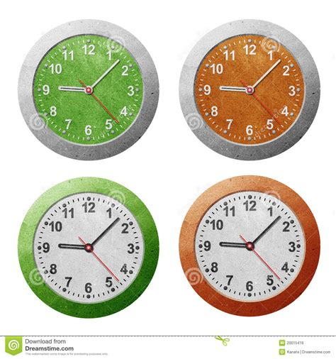 Papercraft Clock - clock recycled paper craft royalty free stock image