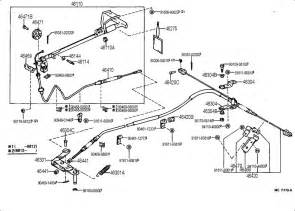 Toyota Hilux Brake System Diagram Toyota Parking Brake Cable