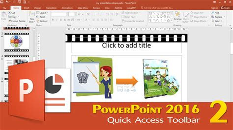 powerpoint quick tutorial tutorial powerpoint 2016 2 quick access toolbar youtube