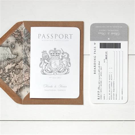 wedding invitations around the world passport wedding invitation by ditsy