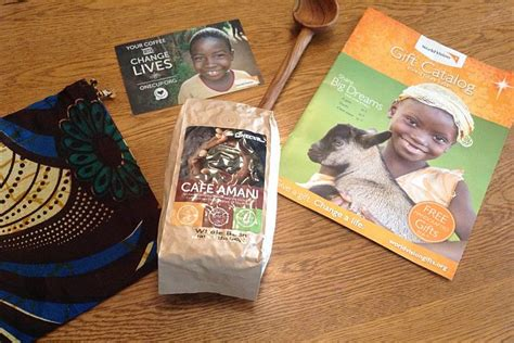 world vision coffee gift one cup project fair trade coffee from world vision s catalog review get cooking