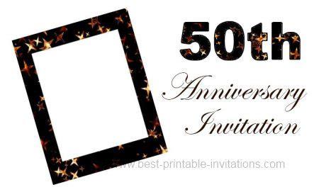 50th anniversary invitation card templates printable 50th anniversary invitation