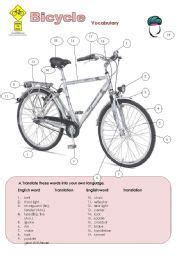Label A Bike Worksheet