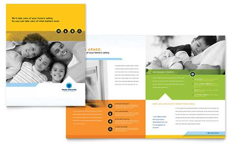 security company brochure template home security systems brochure template
