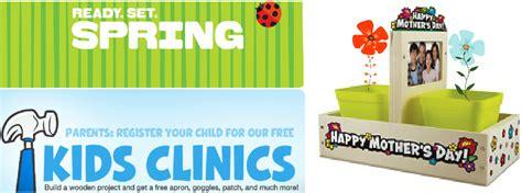 lowe s home depot kids workshops register now to make