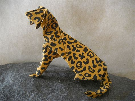 Leopard Origami - leopard cat this is hideo komatsu s cat design i found