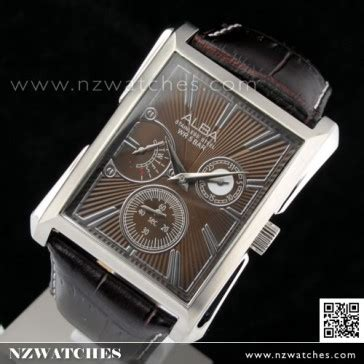Alba An 4034 35 Leather buy seiko alba chronograph leather aq7035x1 buy