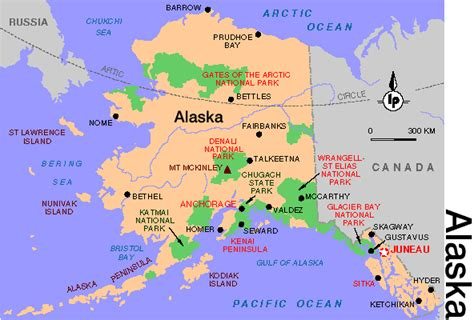 us time zone map with alaska denali