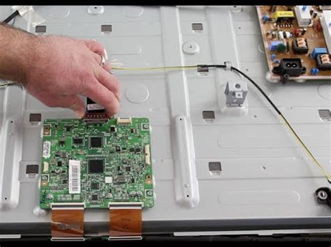 samsung led tv repair   board replacement  picture  screen image fades  black
