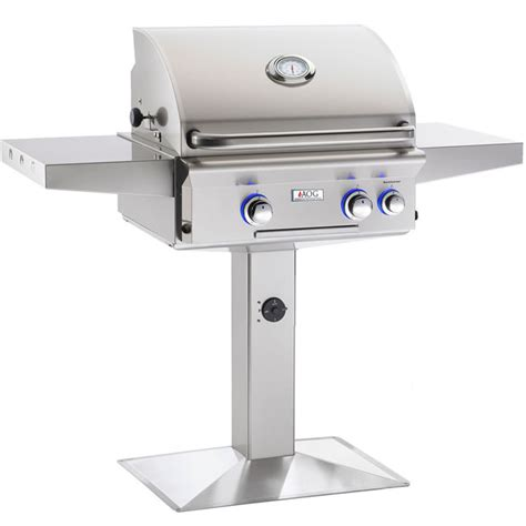 American Outdoor Grill Post Mount Grill With Interior Outdoor Grill Lights