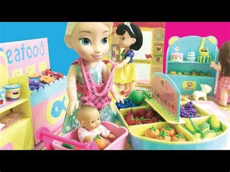 disney princess dolls supermarket toys youtube