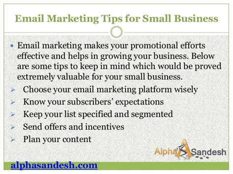 Email Marketing 5 by 5 Remarkable Email Marketing Tips For Small Business Owners