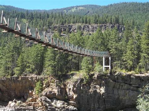 swinging bridge montana swinging bridge picture of libby montana tripadvisor