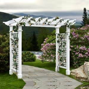 Vinyl Arbors And Pergolas by New England Arbors Fairfield Grande 7 25 Ft Vinyl Pergola