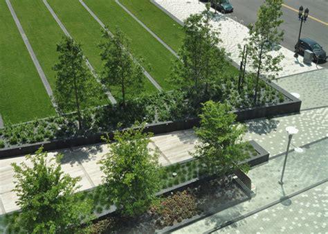 Landscape Architect Boston Fan Pier Green And Streetscape Boston Usa