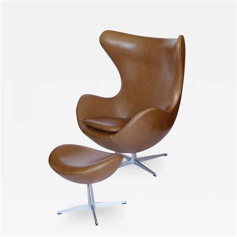 tan leather chair and ottoman arne jacobsen original tan leather egg chair and ottoman