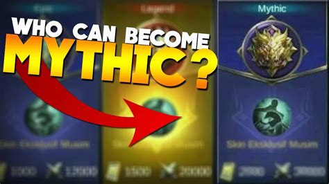 mobile legend update new rank in mobile legends mythic update