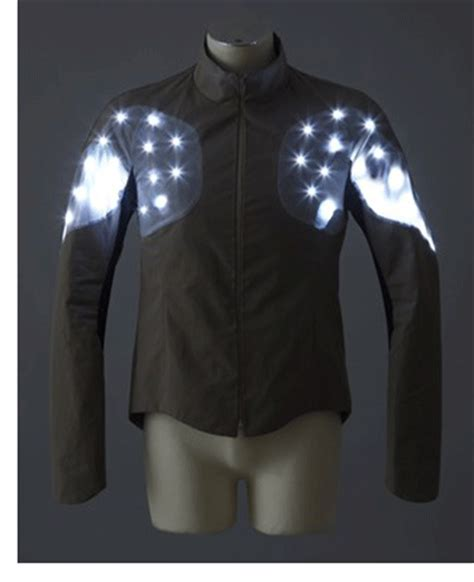 cycling jacket with lights lighten up alternative bicycle illumination
