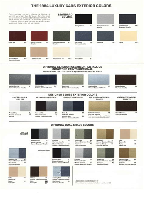 classic colors classic lincolns view topic lincoln exterior colors
