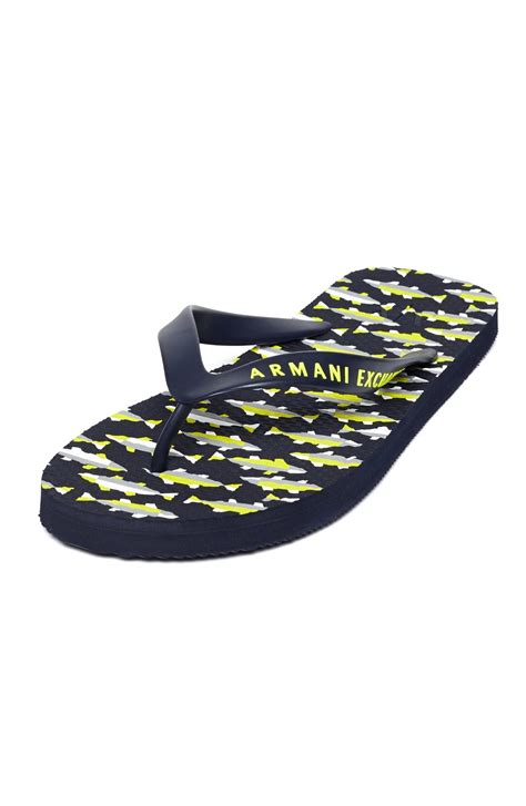 armani exchange slippers armani exchange mens fish printed flip flop armani shoes
