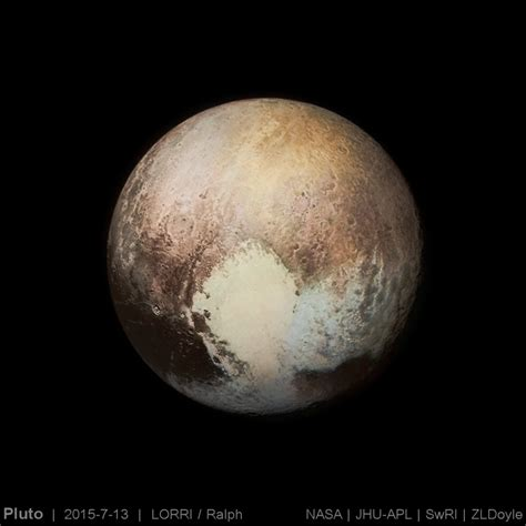 pluto color pluto early best guess at color the planetary society