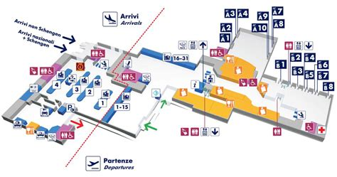 map of rome airport transportation terminal