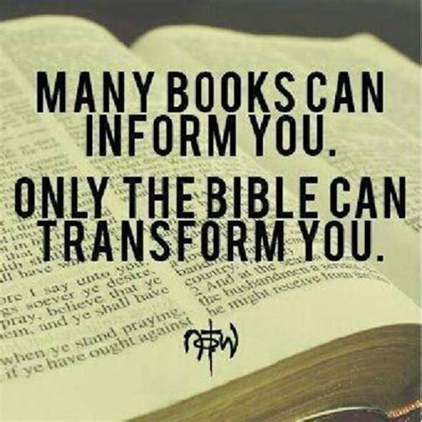 an with god books many books can inform you only the bible can transform